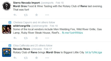 Reno Mardi Gras Twitter Feed