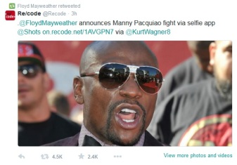 Mayweather negotiated the terms and conditions to announce the fight first.