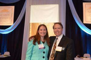 Honoree Lisa Jansen and sponsor Carlton Geer, Nugget Casino Resort