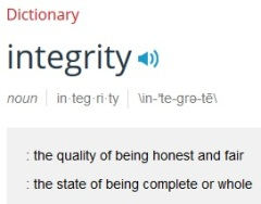 Merriam-Webster Integrity